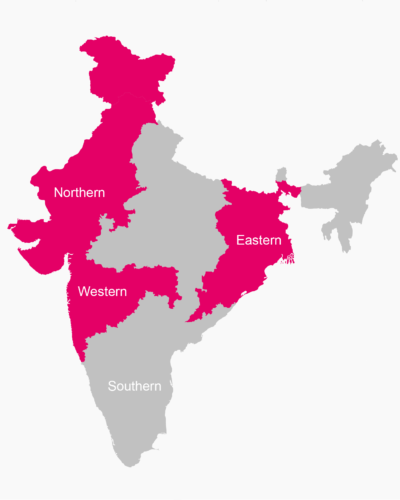 FOR NORTH EAST WEST INDIA